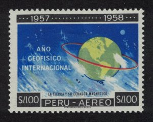 Peru Astronomy International Geo Year MH SG#850