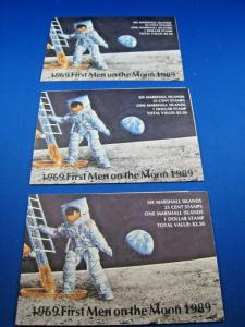 MARSHALL ISLANDS  -  SCOTT # 238A  SPACE COMPLETE BOOKLETS  - LOT OF 3  (wr)
