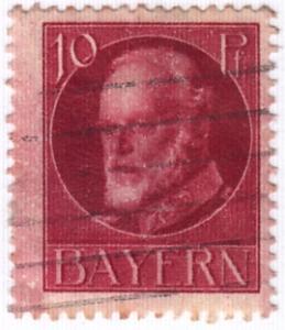 Germany-Bavaria,  Scott # 99,  Used