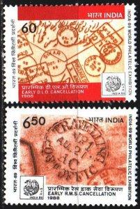 India. 1988. 1195-96. Philatelic exhibition. MNH.
