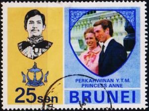 Brunei. 1973 25c S.G.214 Fine Used