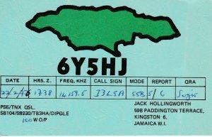 7433 Amateur Radio QSL Card  KINGSTONE JAMAICA