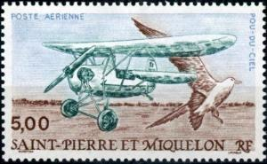 St. Pierre and Miquelon #C66 Flying Flea - Bird
