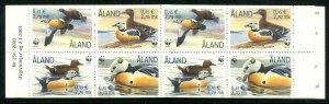 Finland Aland Island Sc 185e WWF Birds Eider CV $11