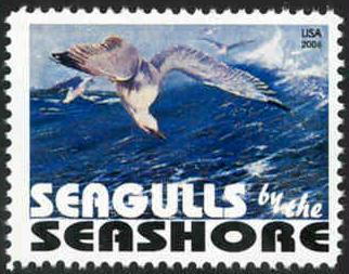 Topical Stamp: Seagulls by the Seashore - Cinderella - MNH