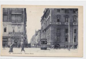 VINTAGE POST CARD , ALEXANDRIA , SISTERS STREET  1919, ON ACTIVE SERVICE.    P10