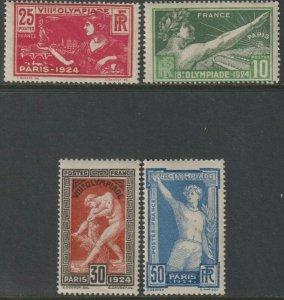 Sc# 198 / 201 1924 France 8th Olympic Games, Paris complete set MNH CV $125.00