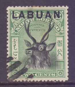 North Borneo Labuan Scott 74 - SG111, 1900 2c used CTO