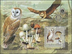 St. Thomas & Prince Islands 2006 Sc 1611 Birds Owls mushrooms CV $11