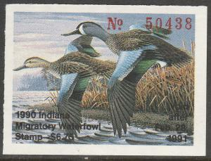U.S.-INDIANA 15, STATE DUCK HUNTING PERMIT STAMP. MINT, NH. VF