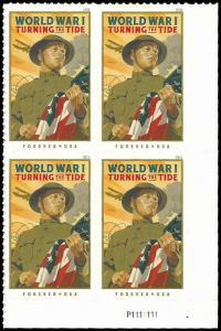 PCBstamps    US #5300 PB $2.00(4x{50c})World War 1, 2018, MNH, (PB-4)