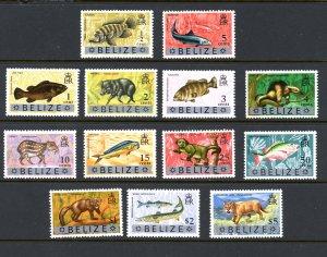Belize 327-339 MNH 1974