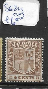 MAURITIUS  (PP1701B) 4C  SG 211  MOG