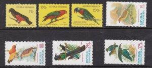 INDONESIA  ^^^^^1980-84  x2  MNH sets ( BIRDS) $27.50  @ dccc965indoxx