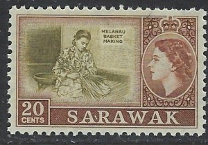 Sarawak 205 MNH 1957 issue (ap6493)