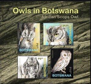 Botswana - 2020 Owls MS MNH**