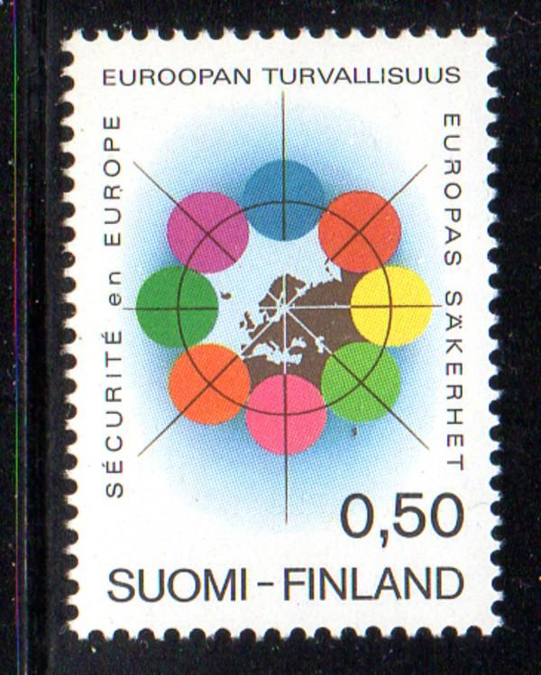 Finland Sc 523 1972 Security Conference stamp NH