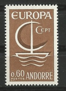 Andorra-French # 172  Europa 1966 (1) Mint NH