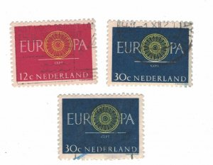 753 - Netherlands (12 C) 1960 - Postage stamps EUROPA Stamps [Set of 2 stamps