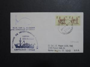 Chile 1987 Luis Alcazar Antarctic Cover / Signed - Z8844