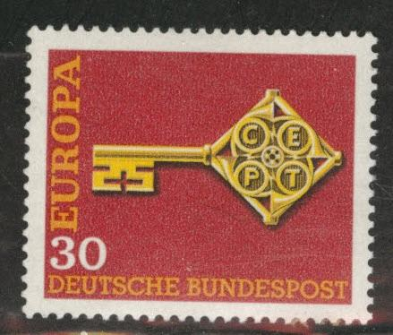 Germany Scott 984 used 1968 Europa stamp