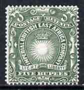 KUT - British East Africa 1890-95 Light & Liberty 5r ...