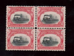 USA #295 Never Hinged Mint Block