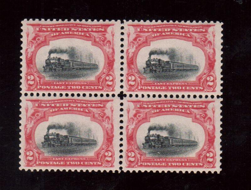 USA #295 Never Hinged Mint Block
