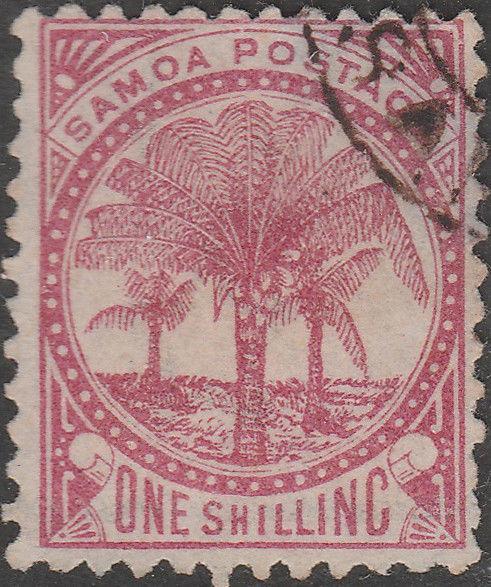 SAMOA - 1890 - SG39 1s rose-carmine - Very Fine Used