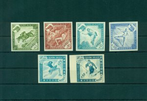 Monaco 1960 Rome Skuaw Valley Olympic Games Imperforated Trial 6 Proofs RARE