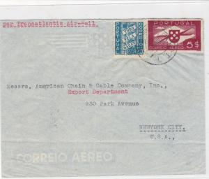 portugal 1940s air mail stamps cover ref 19391