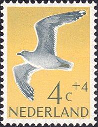 Netherlands # B353 mnh ~ 4¢ + 4¢ Bird - Herring Gull