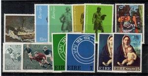 Ireland Scott 338-42,360-66 Mint NH (1974 Comm. Year Set) - Catalog Value $28.25
