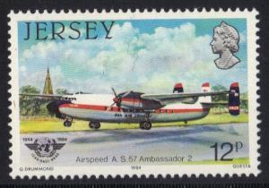 Jersey  1984  MNH  ICAO   aircraft   12p   #