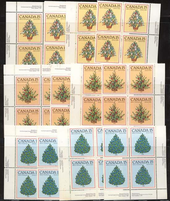 Canada - 1981 Christmas MS Imprint Blocks mint #900-902 F+-VF-NH