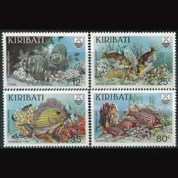 KIRIBATI 1985 - Scott# 452-5 Reef Fish Set of 4 NH