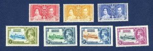 NORTHERN RHODESIA - 18-21 & 22-24 - unused light hinged - silver jubilee, coron