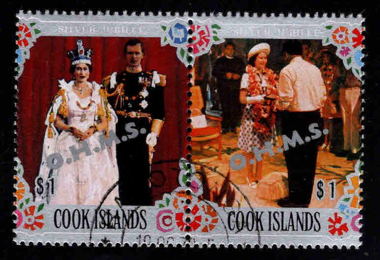 Cook Islands Scott o27 Official pair Used CTO