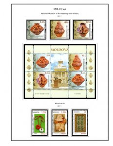 COLOR PRINTED MOLDOVA 2011-2018 STAMP ALBUM PAGES (43 illustrated pages)