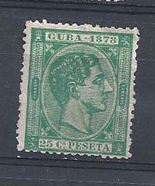 CUBA STAMP VFU  CUBA  1878  25 Cs  PESETA #CC17