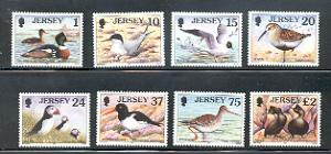 Jersey Sc 778-85 1997 Seabirds & Waders stamp set mint NH