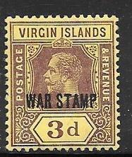 British Virgin Islands #MR2 War Tax (MH) CV$3.50