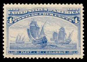 momen: US Stamps #233 Mint OG NH PSE Graded XF-SUP 95J