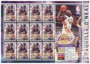 Gambia - NBA Lakers Shaquille O'Neal On Stamps 2917