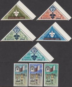 Qatar 53-60 Scouts on Stamps MNH CV $49.25