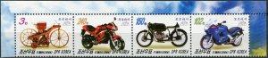 Korea 2006. Motorbikes (MNH OG) Block of 4 stamps