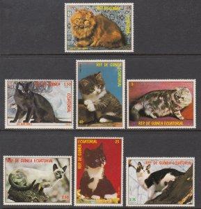 Equatorial Guinea Cats MNH VF