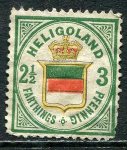 GR Lot 10435 Altdeutschland Heligoland 1877 Michel 17b   1 1-2 Farthings 3  Pfen