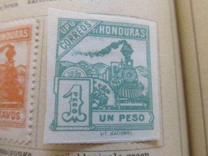 Honduras 1898 1p fine mng stamp A11P12F39