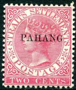 PAHANG-1889 2c Pale Rose Sg 4 MOUNTED MINT V31439
